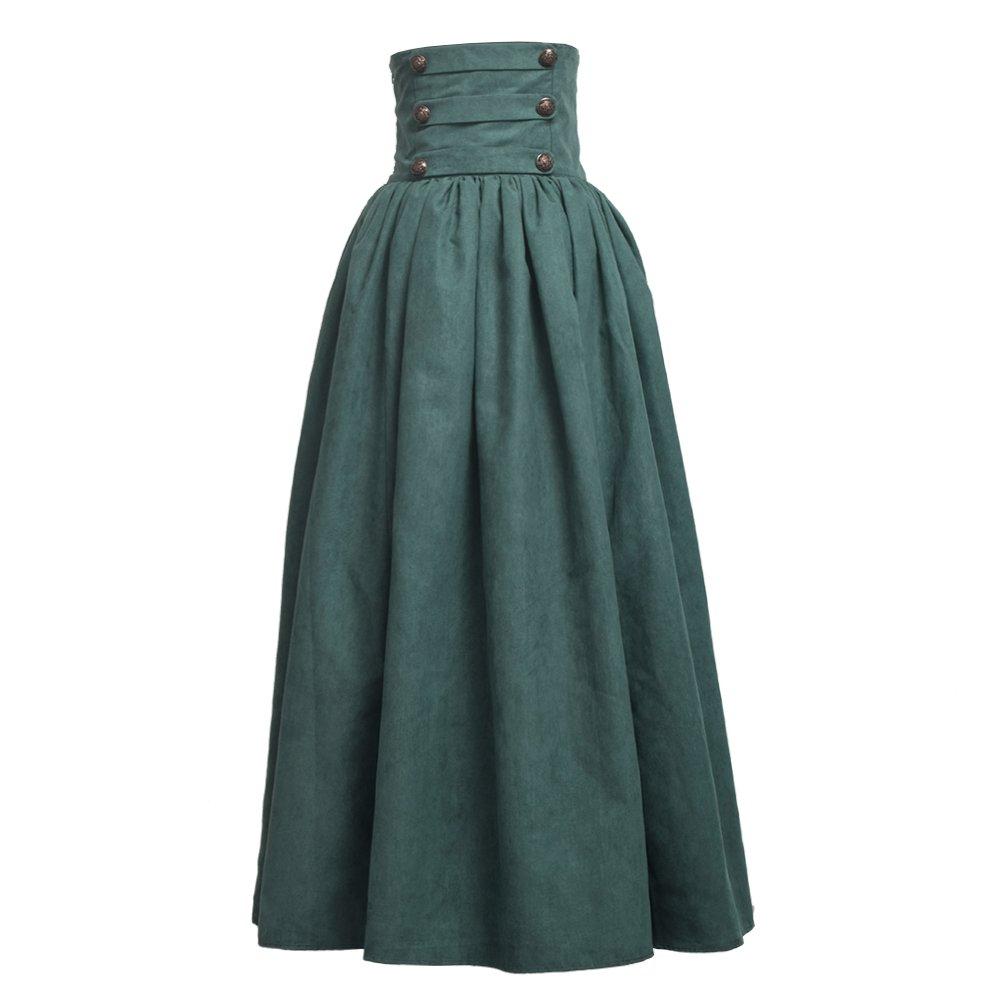 Steampunk Skirts | Bustle Skirts, Lace Skirts, Ruffle Skirts BLESSUME Gothic Skirt Lolita Steampunk High Waist Walking Skirt $54.99 AT vintagedancer.com