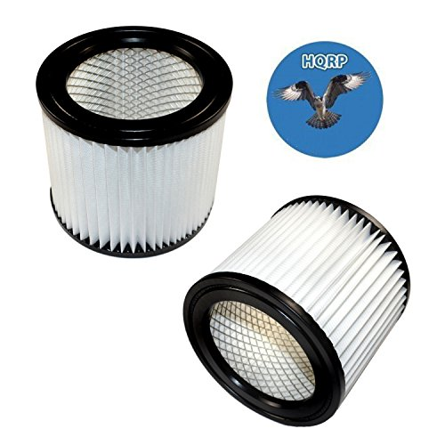 HQRP 2-pack Small Cartridge Filter for Shop-vac 903-98 90398 9039800 903-98-00 Type AA Replacement fits Shop-Vac Wet/Dry Vacuums 903-99 90399 9039900 + HQRP Coaster
