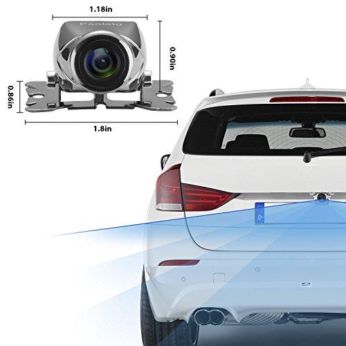 Panlelo Caméra de vision arrière de voiture Full HD 720P Caméra de grand angle de 170 degrés NTSC TV universelle imperméable à l'eau avec système d'assistance au stationnement durable modeling