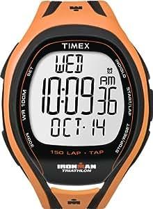 Timex Ironman Sleek 150 LAP T5K254 - Reloj de caballero de cuarzo, correa de goma (con cuenta vueltas, cronómetro, alarma, luz)