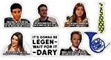 How I Met Your Mother Sticker Set of 8 **Water Proof Stickers**