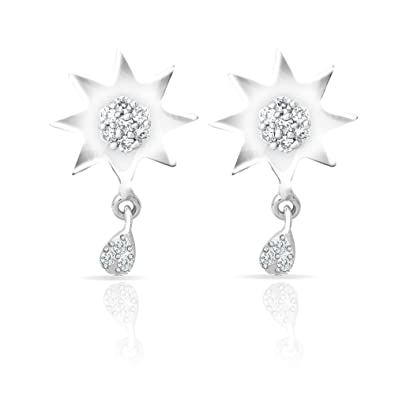 47dc57ae9 Buy Craftsvilla Mahi Sun Delight With Rhodium Plating For Women Online at  Low Prices in India | Amazon Jewellery Store - Amazon.in