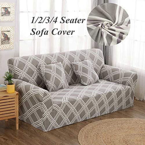 Sofa Cover - Lattice Elastic Stretch Universal Sofa Covers Sectional Throw Couch Corner Cover Cases Home Decor - Sofa Double White Loveseat Room Piece Blanket Pink Arms Shape Golden Multi (Zebra Suede Nu)