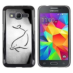 Be Good Phone Accessory // Dura Cáscara cubierta Protectora Caso Carcasa Funda de Protección para Samsung Galaxy Core Prime SM-G360 // Tattoo Body Art Painting Simple