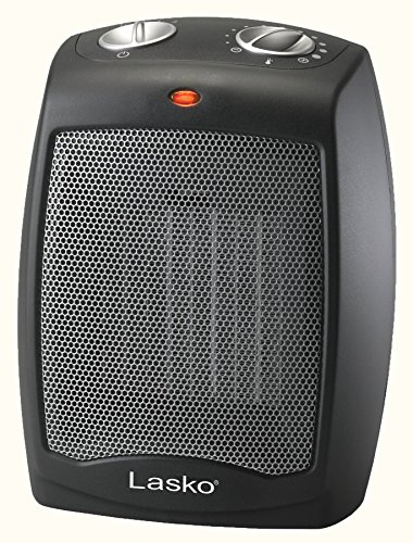 Lasko CD09250 Ceramic Portable Space Heater with Adjustable Thermostat - Perfect For the Home or Home Office (Best Portable Electric Heater For Large Room)