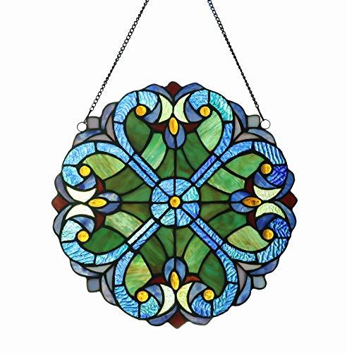 Round Art Glass Panel - 9