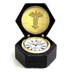 Desk Clocks - Medical Profession Desk Clock - Doctors - Medicine - Caduceus