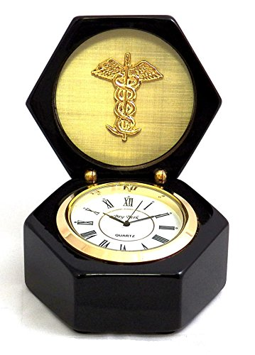 Desk Clocks - Medical Profession Desk Clock - Doctors - Medicine - Caduceus by KensingtonRow Home Collection