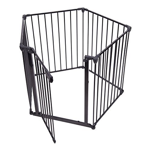 CO-Z Baby Safety Fence Metal Fireplace Gate Hearth Gate Pets Dog Puppy Cat Fence