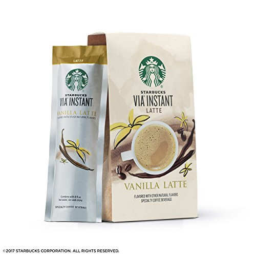 Starbucks VIA Instant Coffee Flavored Packets — Vanilla Latte — 1 box (5 packets)