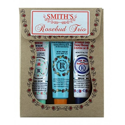 Salve Lip Balm (Rosebud Trio Lip Balm Assortment, 0.5 Ounce)