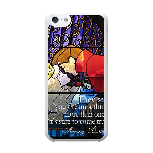 Coque,Coque iphone 5C Case Coque, Sleeping Beauty Castle Inside Cover For Coque iphone 5C Cell Phone Case Cover blanc