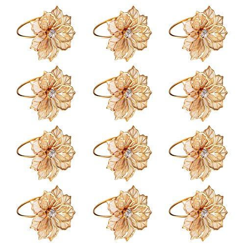 River Weddings, Dinners, Parties, Kitchen Accessory of Napkin Rings, set of 12 (10)