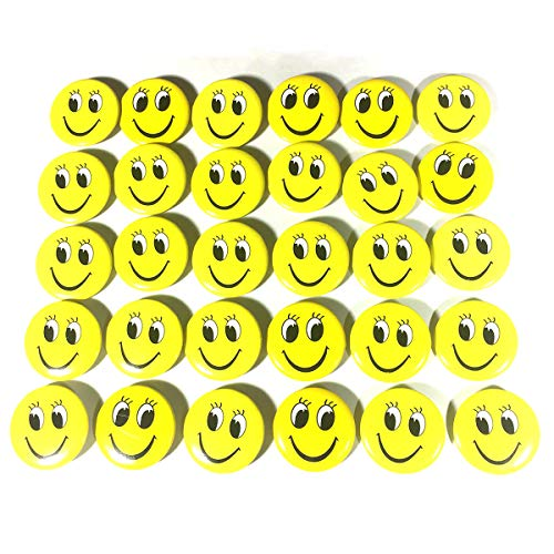 OKOK Mini Metal Smiley Smile Face Button Pins,1.2 Inch Size - 60 Pack - Face Mini Button