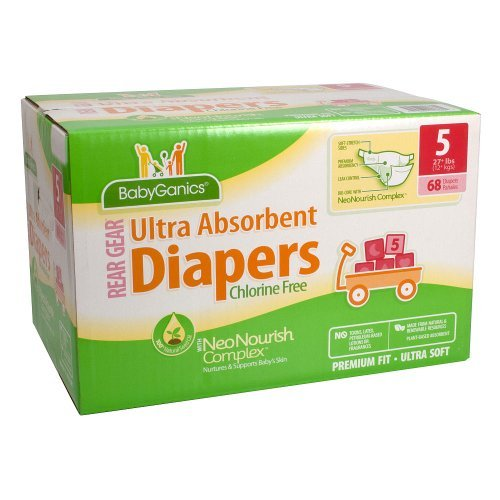 BabyGanics Ultra Absorbent Diapers - 68 Ct - Size 5