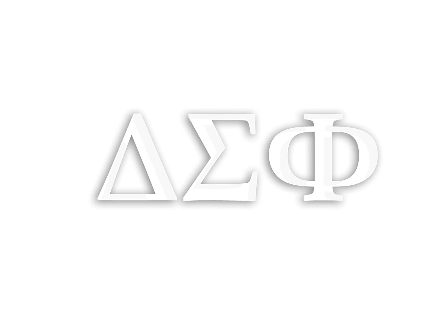 Rage Paints Officially Licensed Delta Sigma Phi 8 x 3 Window Decal White