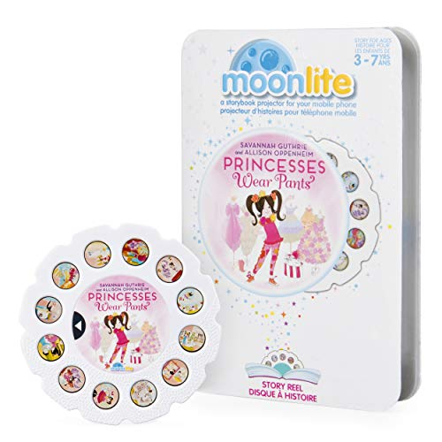 Moonlite - Princesses Wear Pants Story Reel for Moonlite Storybook Projector, for Ages 3 and - Stories Reel