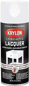 Krylon K07031777 Gloss White Lacquer Spray, 12 oz.