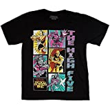 Ready Player One High Five Group T-Shirt, Comic Strip Style for Gamers, Celebration of Gamers-Small