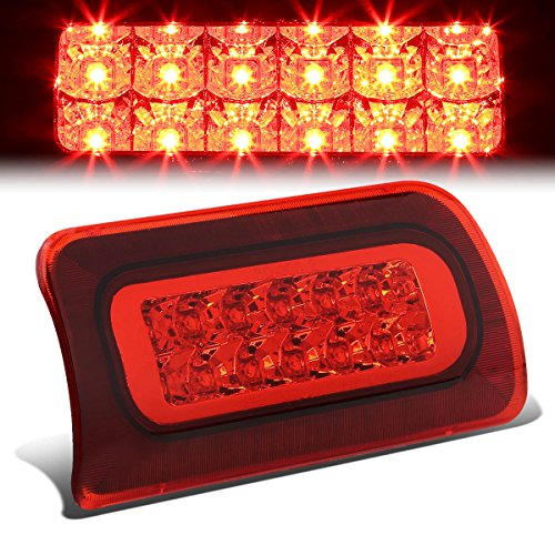 S10 / Sonoma / Hombre GMT325 Standard Cab High Mount Dual Row LED 3rd Brake Light (Red Lens) - Chevy S10 Standard Cab
