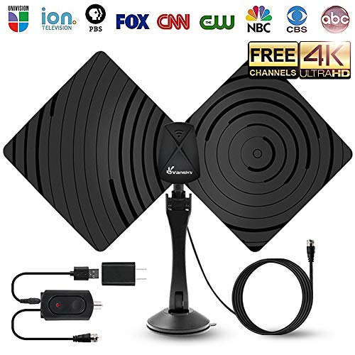 TV Antenna HDTV Antenna,Amplified HD Digital TV Antenna Indoor TV Antennae 50 Miles Range with Detachable Amplifier Signal Booster,Designed for The Best Reception On UHF and VHF Bands by Vansky
