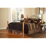 Hillsdale Furniture 164BKR Winsloh Bed Set with Rails, King, Black