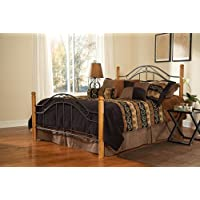 Hillsdale Furniture 164BKR Winsloh Bed Set with Rails, King, Black