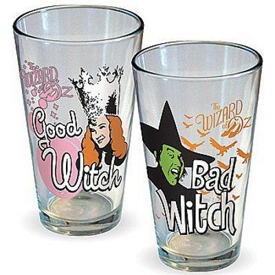 [ICUP Wizard of Oz Good Witch Bad Witch Pint Glass (2 Pack), Clear] (Good Witch Of Wizard Of Oz)