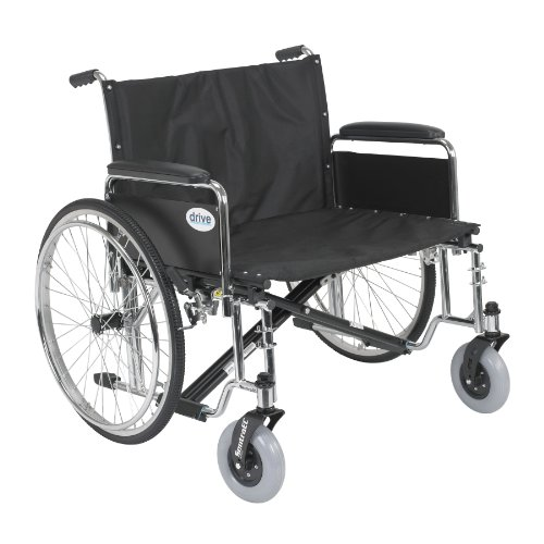 Sentra EC Heavy Duty Extra Wide Wheelchair with Various Arm