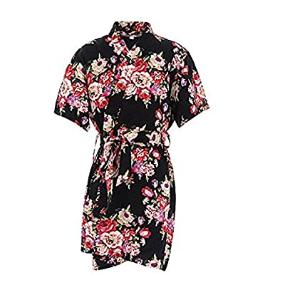 Mr & Mrs Right Kids' Cotton Kimono Robe For Spa Party Wedding Birthday