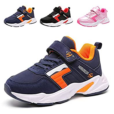 LEXIAODI Kids Sneakers Girls Running Shoes Boys Lightweight Athletic Sport Shoes Tennis Gym Blue