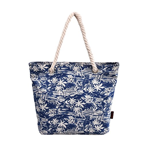 Beach Tote Bag Hand Tote Shopping Bag Shopper Bag with Rope Handle 252BLCoCo 252BECoCo ()