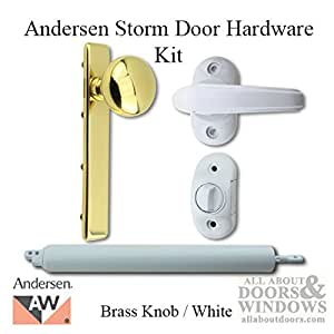 Andersen Emco Storm Door Hardware Kit Brass Knob