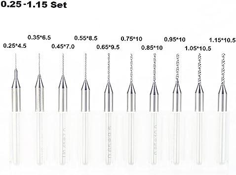 Hole Diameter : 0.45mm Mini Twist Drill Bit Tungsten for The CNC 10pcs//set