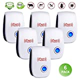 Ultrasonic Pest Repeller 6 Pack,Upgraded Electronic Pest Repellent...