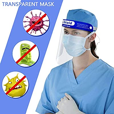Fowoukior Full Face Shield Protector Kitchen Oil Splash Anti-Smoke Protective Shield Cover: Clothing