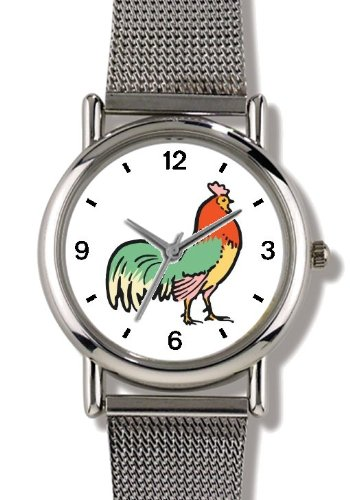 rooster-le-coq-cockerel-cocq-gaulois-cock-bird-animal-watchbuddy-elite-chrome-plated-metal-alloy-wat