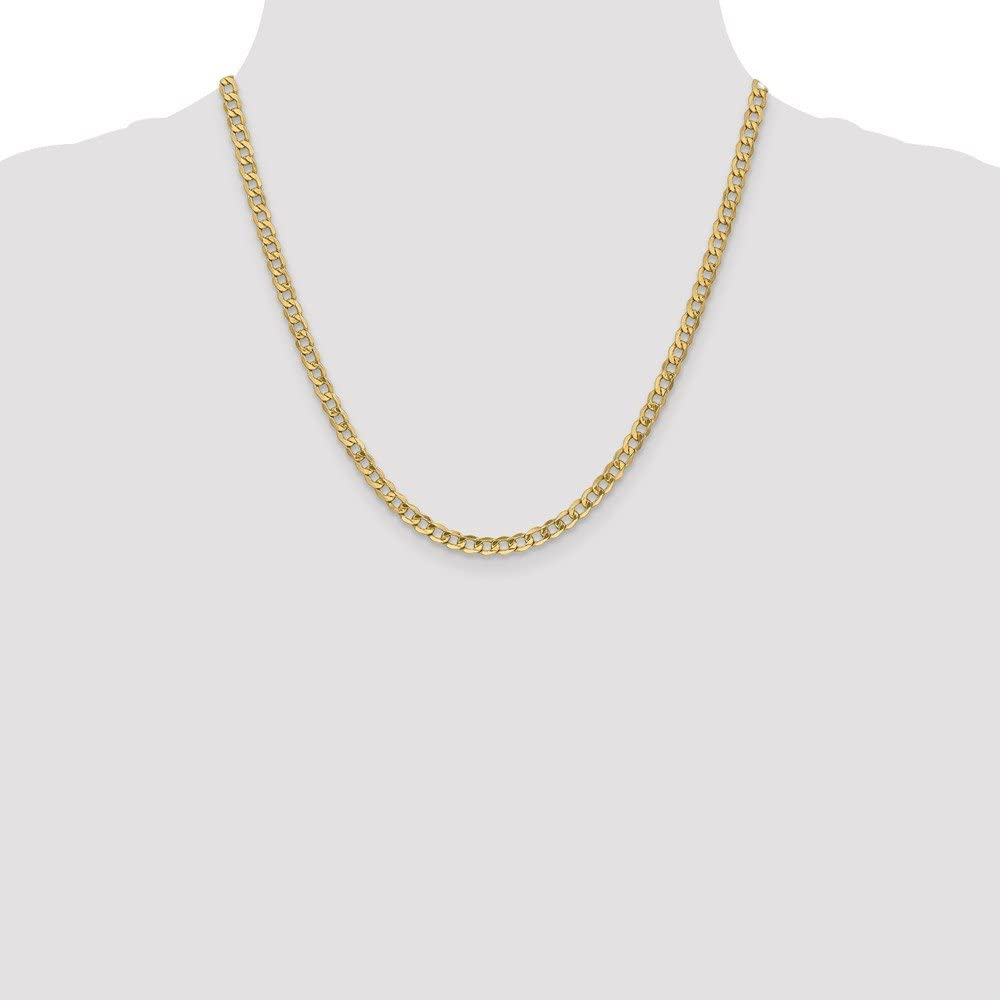 10k Yellow Gold 4.3mm Curb Chain Necklace 6.15g