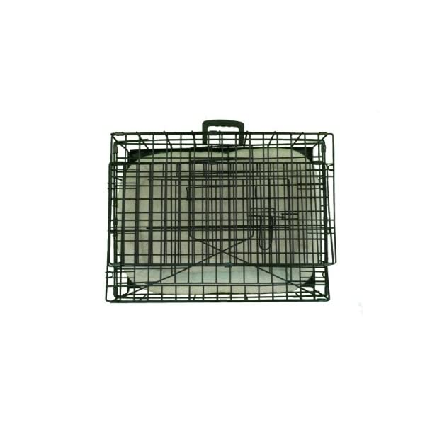 Ellie-Bo Deluxe Sloping Puppy Cage Folding Dog Crate with Non-Chew Metal Tray Fleece and Slanted Front for Car 3