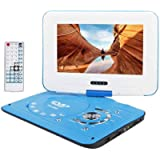 Tarnel Portable DVD Player 9.8' with SD Card/USB Port, 9' Eye-Protective Screen, Support AV-in/Out, Region Free (Blue)