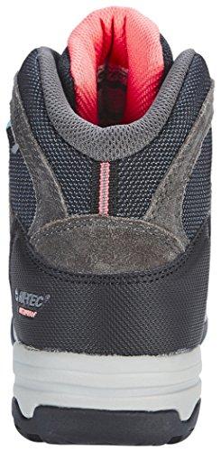 Hi-Tec Bandera II Mid WP - Calzado - gris/negro 2017 Charcoal/Graphite/Blossom