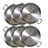 Paella Pan Steel 9.5 inch (24cm) SET OF 6 . Great for parties or individual servings! Made in Spain