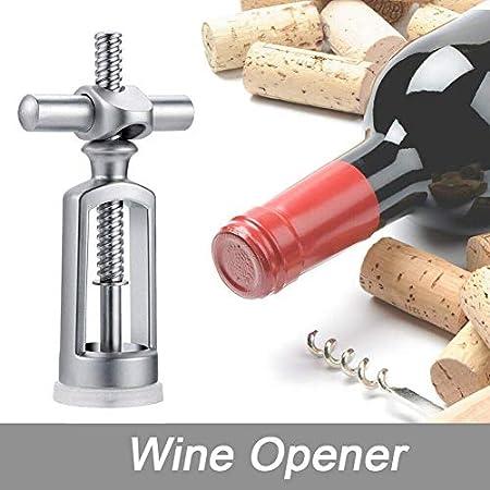 WANGIRL Sacacorchos KTV Bar Bar Herramientas Utensilios de Cocina Práctica Precio de la Botella de Vino Durable Champagne Vintage Sacacorchos de sacacorchos Pelo de Acero Inoxidable LOLDF1