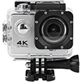 Sandsitore 4K Sport Action Camera 16MP WIFI Waterproof Camera 2inch LCD Screen 170 Ultra Wide-Angle Lens Underwater Camcorder And Full Accessories Kits (Silver)