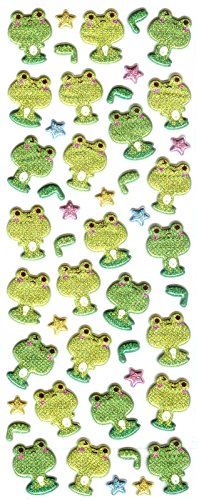 Puffy Frog (Frog Design Sparkling Puffy Stickers)