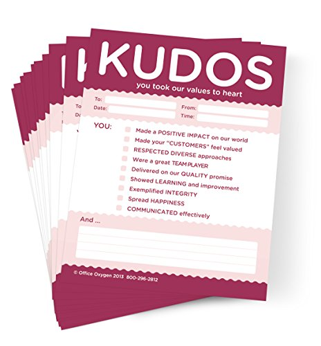 Kudos for Values Set of 10 Note Pads (RED)