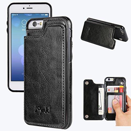 iPhone 6/6s Wallet Case-JOYAKI PU Leather Card Case -Slim fit Executive Wallet Card Case - Ultra Slim Protective Phone Case(Black) ...