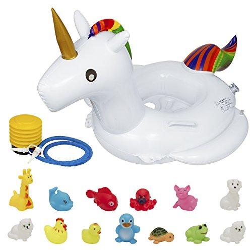 Biubee Baby Unicorn Swimming Float- Inflatable Ring Seat Swi