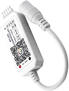 Joick Home DC5V 12V 24V Bluetooth Wireless WiFi Controller RGB/RGBW IR RF LED Controller, Mini RGBW Bluetooth