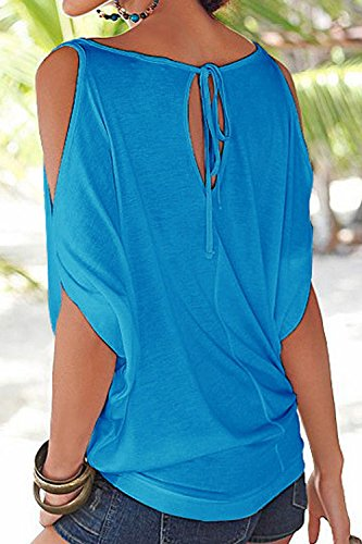 Shirt blue Libert Figure Tops t Manches Occasionnels T Femmes Tee Blouses rqYwvRqH